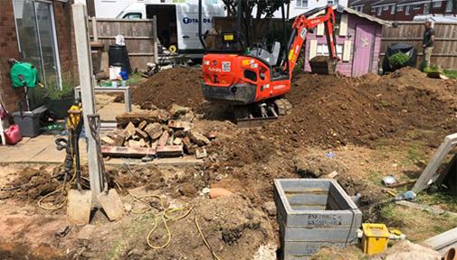 Domestic excavation