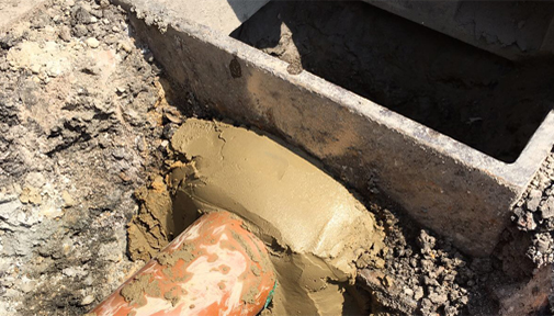 Excavations and repairs of existing drainage