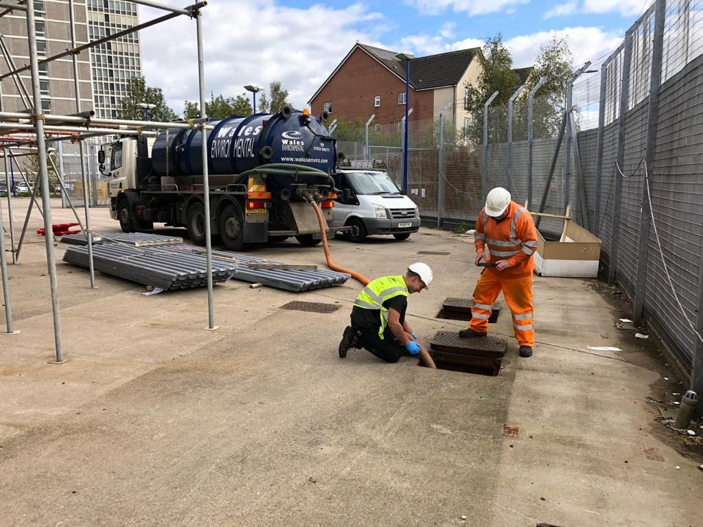 Tanker with operatives carrying out commercial tanker services